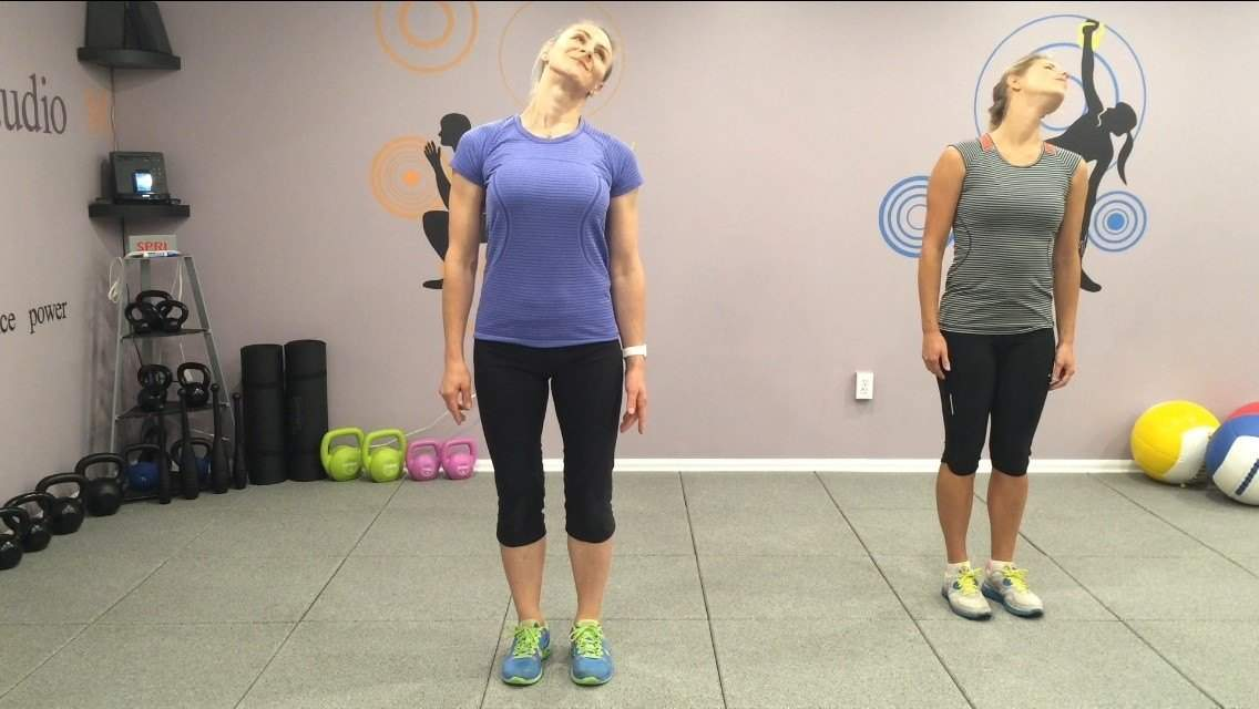 warm up for singing effectively with a shoulder roll routine
