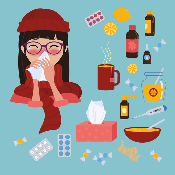 products that you can use to solve a cold or illness